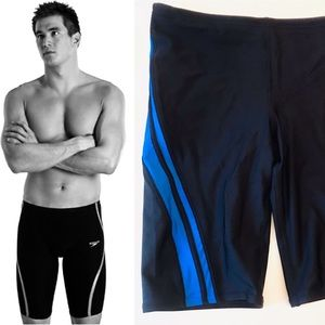 Speedo Competition High Waist Racing Swim Trunks